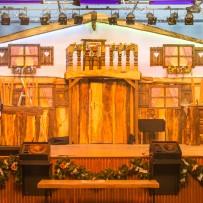 """Bühnenbild und Saaldekoration """"Auf der Alm"""""""