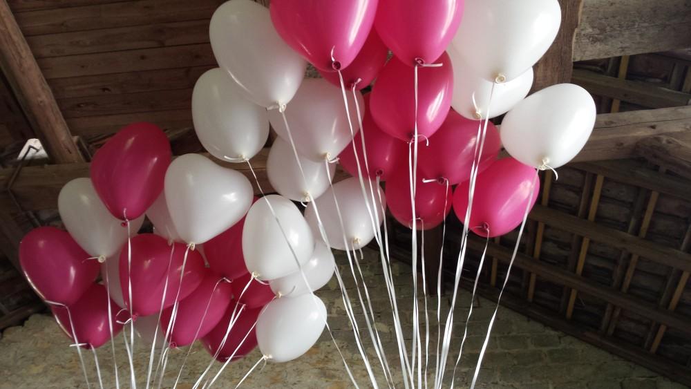 Ballons rosa-weiß